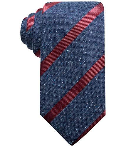 Tasso Elba Men's Stripe Tie (Wine, ONE SIZE)
