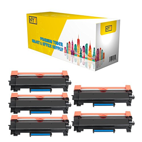 NYT Replacement for Brother TN760 Toner Cartridge - TN 760 High Yield NO CHIP for Brother HL-L2350DW HL-L2370DW XL HL-L2390DW DCP-L2550DW HL-L2395DW MFC-L2710DW MFC-L2750DW XL - Black - 5 Pack