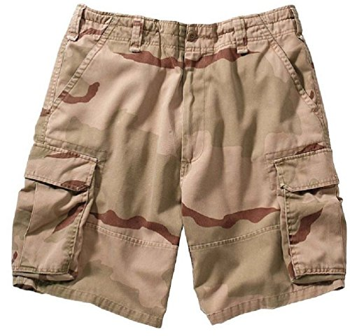 - Bellawjace Clothing Tri-Color Desert Camo Military Vintage Army Paratrooper Shorts Cargo Shorts