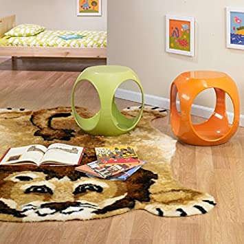 Playful Lion Pattern Play Mat Area Rug, Fun Jungle Ruler Friendly Cat  Themed, Free