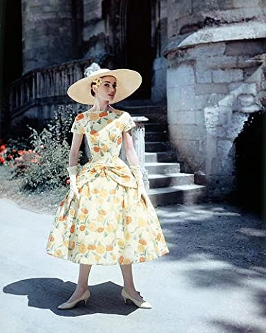 Audrey Hepburn 8x10 Publicity Photo Full Length in Summer Dress and ... 5c15a3db67b