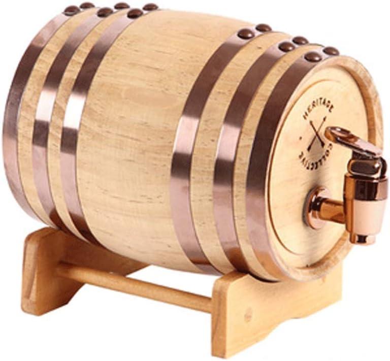 Barriles de roble para el hogar barriles de vino seco de madera maciza decorados con pequeños adornos de contenedores de barriles de vino, barriles de roble, grifos de resina para almacenar vino y lic