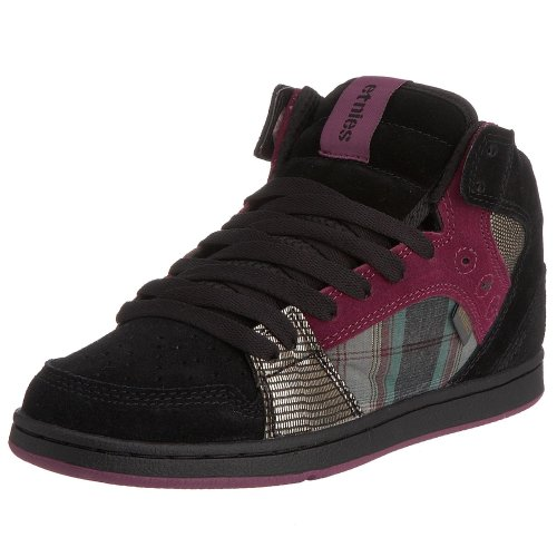 Etnies - Zapatillas de skate de ante para mujer, color blanco, talla 41 Black/Plaid