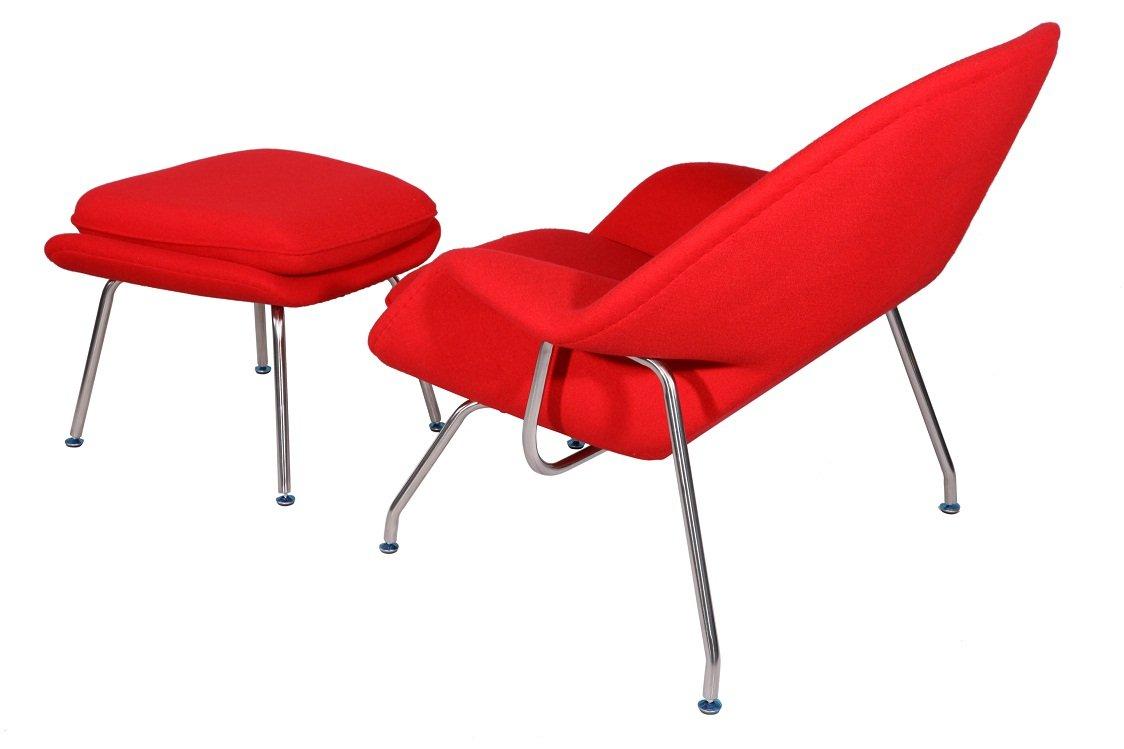 Saarinen womb chair - Amazon Com Mlf Eero Saarinen Womb Chair Ottoman 8 Colors Premium Cashmere High Density Foam Cover On Fiberglass High Polished Stainless Steel