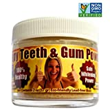 Product review for Happy Teeth & Gum Powder - Organic/nonGMO - Reduces Gum Disease, Recession, Gingivitis, Plaque, Bleeding, Sensitivity, Inflammation, Bad Breath, - The Future of Dental Care Here for YOU -- NOW!