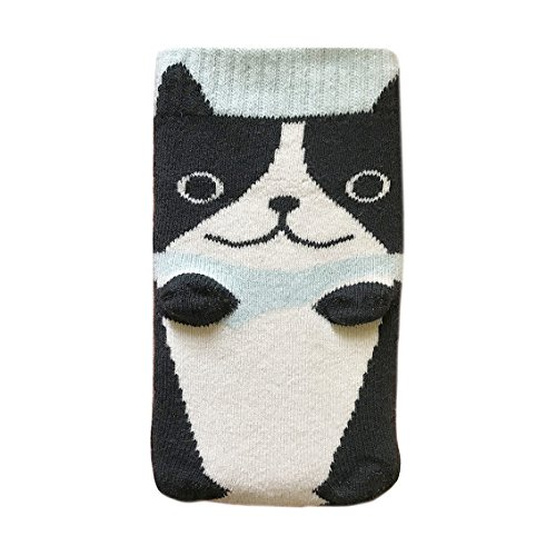 French Bulldog Knit Mobile Phone Sock Case Cover Blue