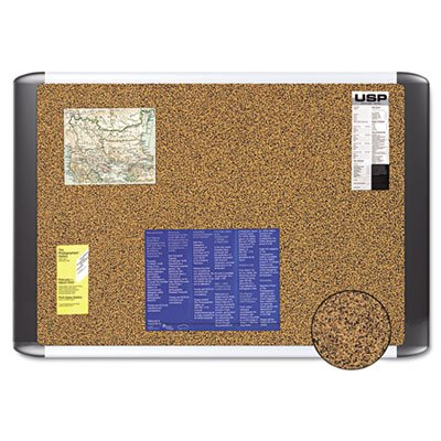 Tech Cork Board, 48x72 Silver/Black Frame, Sold as 1 Each