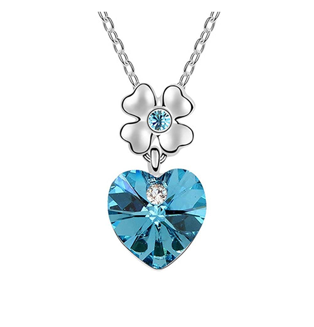 Crystal jewelry white gold plated chain Necklace /& Pendant Engagement Necklace