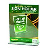 Nu-Dell T-Frame Base Desktop Sign Holder, Acrylic, 8.5 x 11 Inches (38020)