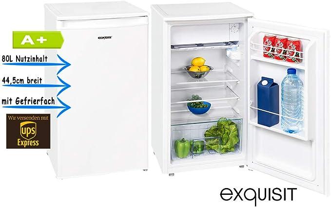 Exquisit ks86 – 9 A + Top Frigorífico con congelador, 44,5 cm de ...