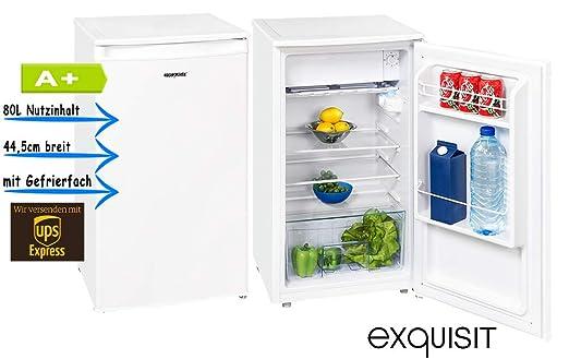Exquisit KS86 9 A+Top Kühlschrank Mit Gefrierfach 44,5cm Breit  Bürokühlschrank: Amazon.de: Elektro Großgeräte