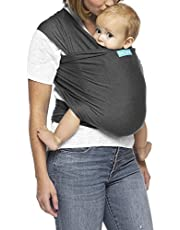 MOBY Evolution Baby Wrap Carrier for Newborn to Toddler, Baby Sling from Birth, One Size Fits All, Lighter Version of MOBY Classic Wrap, Breathable Stretchy Wrap, Unisex