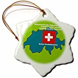 3dRose LLC Map and Flag of Switzerland w