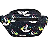 Acid Party Fanny Pack, Stylish Party Boho Chic Handmade with Hidden Pocket : Unicorn Puke