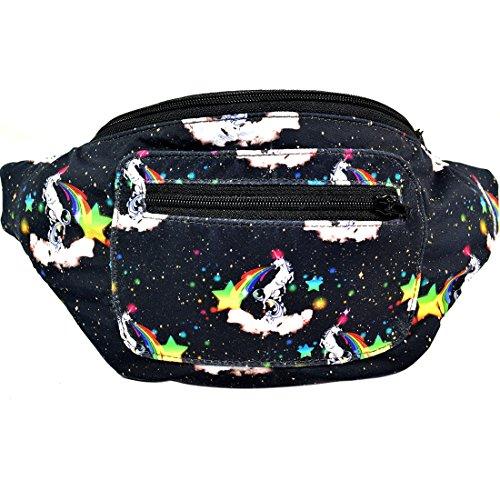 Acid Party Fanny Pack, Stylish Party Boho Chic Handmade with Hidden Pocket : Unicorn Puke by Santa Playa