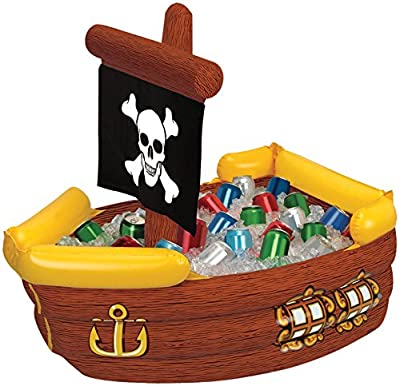 """Beistle Company - Inflatable Pirate Ship Cooler 41""""x23""""x 15"""""""