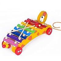 Z ZHIZU Tirare il giocattolo Xilofono Legno Bambini Gioco di Legno Strumento Giocattoli Musicali Auto Camion Giocattolo Legno per Bambini