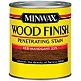 Minwax 222504444 Wood Finish Penetrating Interior Wood Stain, 1/2 pint, Red Mahogany