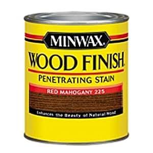 Minwax 222504444 Wood Finish Penetrating Interior Wood Stain, 1/2 pint, Red Mahogany