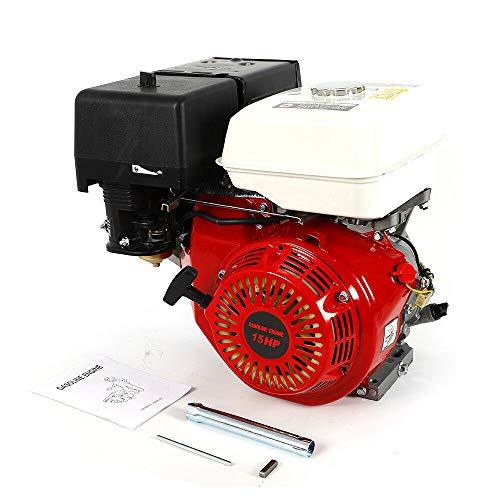 Gasoline Engine Motor, 15 HP 4 Stroke 420CC Gas Petrol Engine, 3600r/min Forced Air Cooling OHV Single Cylinder Petrol Motor Complete Set, Rubber Air Filter Gasket - Petrol Cylinder