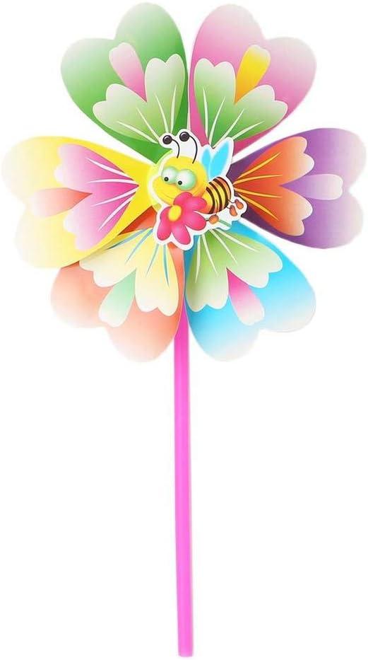 Uteruik Molinillo de Viento para decoración de Fiestas, Jardines, Palomas, pájaros, espantapájaros, 1 Unidad, ABT#4: Amazon.es: Hogar
