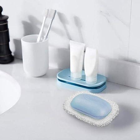 2 portasapone in PVC antiscivolo e 2 sacchetti di sapone ecologici esfoliante per il bagno con coulisse Homo Trends