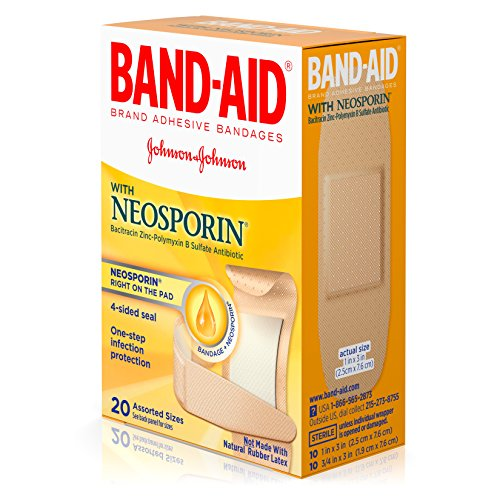 Band-Aid Antibiotic Waterproof Adhesive Bandages, Assorted Sizes, 2 - Band Aid Antibiotic Bandages