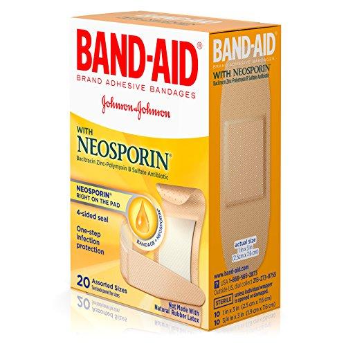 Band-Aid Antibiotic Waterproof Adhesive Bandages, Assorted Sizes, 2 pk