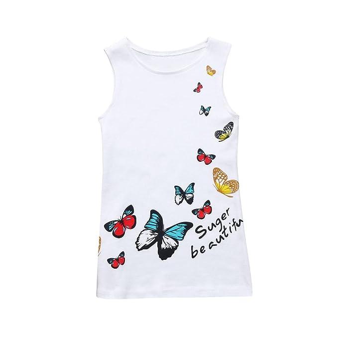 4b7e47719 K-youth® Impresión de mariposas Vestidos Niña Wedding Party Birthday Dress  Princesa Vestido de Fiesta Ropa Bebe Niña Recién Nacido Verano Barata 2018  ...