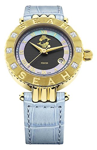 Seah-Empyrean-Zodiac-sign-Pisces-42mm-18K-Yellow-Gold-Tone-Swiss-Made-Automatic-12-carat-Diamond-watch