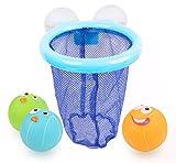 Bath Toy, Basketball Hoop Bathtub Bath Toy for Boys and Girls with 3 Balls