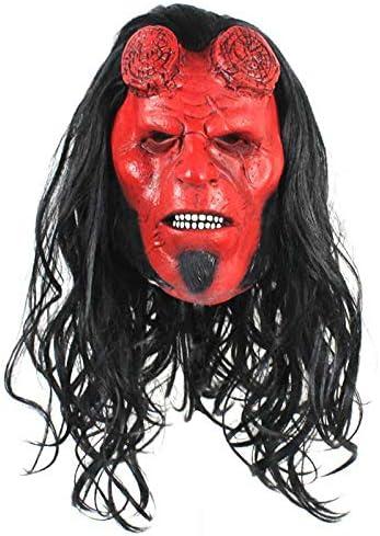 LITIST Máscara de Halloween Hell Baron Máscara Horror Látex Peluca Arnés Hellboy Around Cosplay Accesorios de Halloween: Amazon.es: Hogar