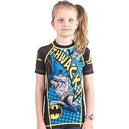 Batman Thwack Kids Rashguard- Short Sleeve (XL)