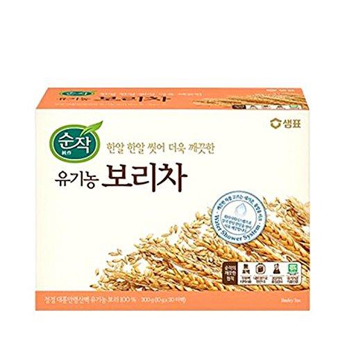 Sam Pyo Sun Jack 100% Organic Barley Tea, 10g X 30 Unbleached Teabags, Sugar Free, Caffeine Free ()