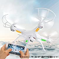 Ikevan 2.4G 4CH 6-Axis FPV RC Drone Quadcopter Wifi Camera Real Time Video 2 Control Modes (White)