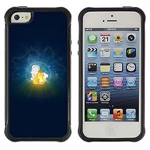 Be-Star único patrón Impacto Shock - Absorción y Anti-Arañazos Funda Carcasa Case Bumper Para Apple iPhone 5 / iPhone 5S ( Aries Zodiac Sign )