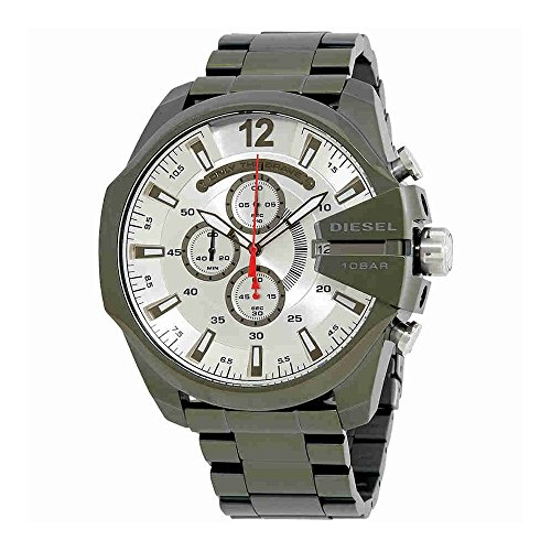 Chronograph Diesel Watch (Diesel Men's Mega Chief Quartz Stainless Steel Chronograph Watch, Color: Green (Model: DZ4478))