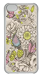 iPhone 5c Cases Unique Cool PC Transparent Cases Personalized Design Butterflies And Bees