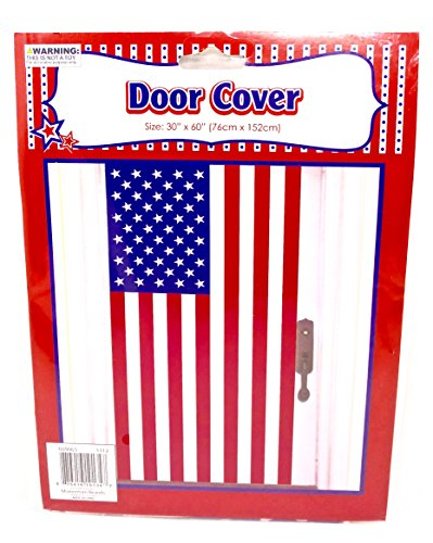 Door Cover American Flag, Plastic (Flag Door Cover American)