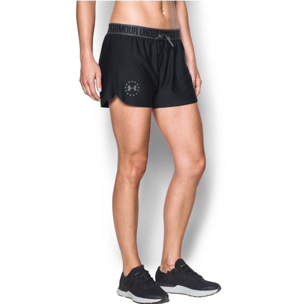 Under Armour Women's Freedom Training Shorts, Black (002)/Graphite, Medium