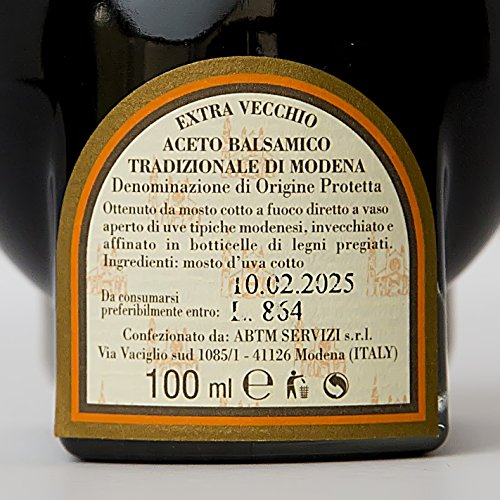 Aceto Balsamico Tradizionale di Modena DOP Extra Vecchio from The Consortium of Traditional Balsamic Vinegar Producers in Modena. Certified Aged 25 years. Great Gift for the Holidays. On Sale now. by The Balsamic Guy (Image #5)