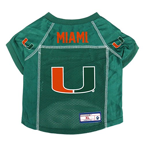 NCAA Miami Hurricanes Pet Jersey, XL