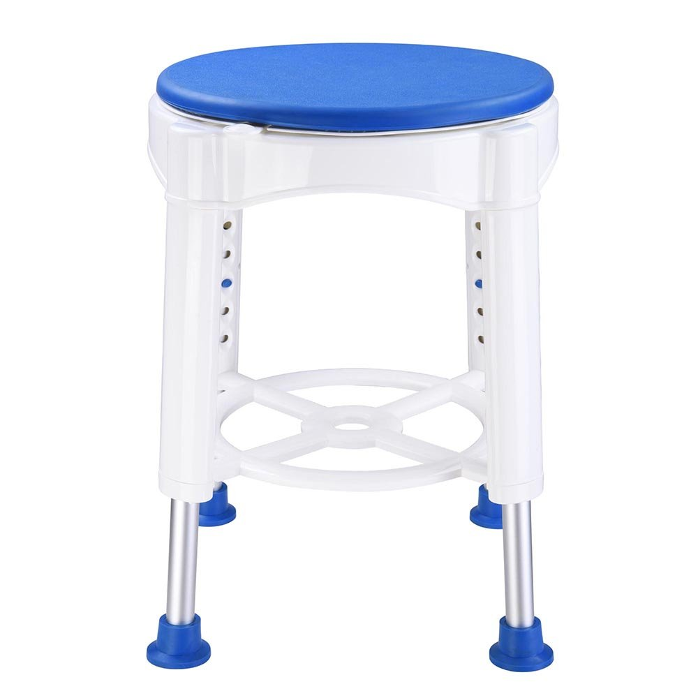 AW 14'' Adjustable Medical Bath Stool Bathroom Safety Shower Stool Swivel Chair with Rotating Seat Aluminum by AW (Image #2)