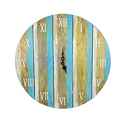 Antique Weathered Vintage Wall Clock | Hand Crafted Decor | Nagina International by Nagina International (24 Inches)