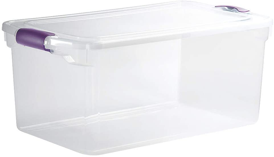 HOMZ 3441GRPRCL.06 Storage Tote Polypropylene Clear 64 qt.