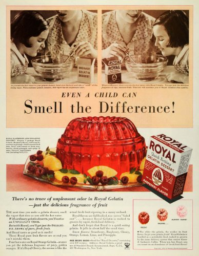 1934-ad-royal-quick-setting-gelatin-dessert-moulds-mold-original-print-ad