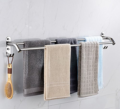 JIAHENGY Einfache 304 Edelstahl Doppel-Hebel Punch 80cm dicker verlängert Hardware Anhänger Bad WC Küche Handtuch Rack Handtuchstange