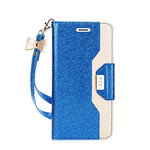 - FYY Case for Galaxy S9 Plus, [Inside Makeup Mirror Leather Wallet Case] with [Prevent Card Information Leaking Technique] and [Kickstand Feature] for Samsung Galaxy S9 Plus Blue