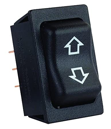 JR Products 12295 Black Replacement Slide-Out High Current Motor Switch
