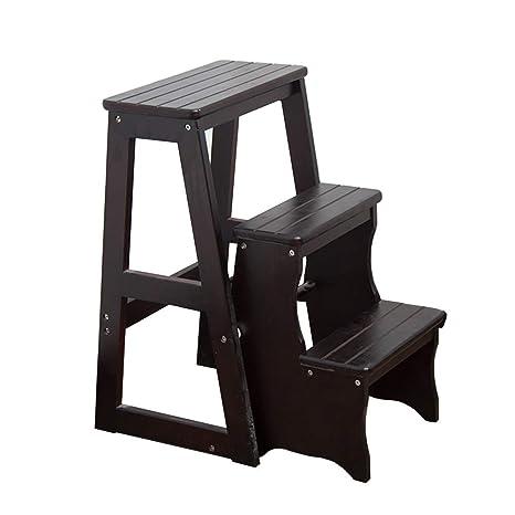 Super Amazon Com Zxl 3 Steps Ladder Adult Wooden Step Stools Machost Co Dining Chair Design Ideas Machostcouk